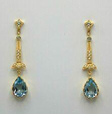 Blue Topaz Studs Blue Topaz & Pearls 925er Silver