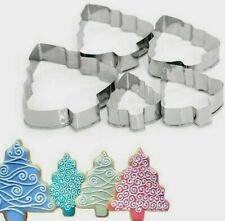 Aus Seller..Set of 5 CHRISTMAS TREE COOKIE CUTTERS  Fondant Sugarcraft ..