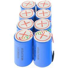 8 pezzi 4/5 subc Sub Cell C 2800mAh 1.2V Ni-MH ricaricabili blu con Tab
