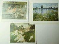 Lot Of 6 Vtg Art Prints Litho Monet Renoir National Gallery Of Art Washington