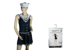 Female Sailor Costume - Womens Halloween Fancy Dress Costume Adult S M L