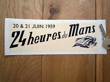 """LeMans 24 Heures du Mans 1959 Classic Racing Car STICKER 8"""" retro vintage hour"""