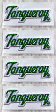 Lot of 4 Vintage 70s 80s TANQUERAY London Gin Embroidered Patch Sew On Liquor