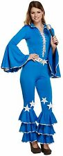 Ladies 70's 80's Disco Pop Star Halloween Fancy Dress Costume Outfit 8-10-12