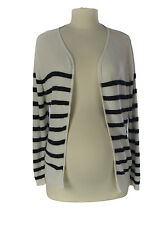 TOPSHOP MATERNITY Women's White/Black Striped Knitted Cardigan 44K06A Sz4 NEW$76