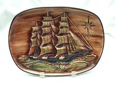 Vintage Ship Boat Wall Plate The Clipper Lightning Erich Stauffer 8182