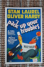 Pack up your Troubles Lobby Card Poster Stan Laurel and Oliver Hardy