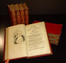 1830's PROVERBES DRAMATIQUES by Theodore Leclercq French Plays 8 Vol Set Illust