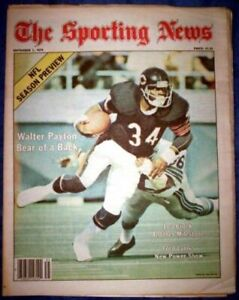 WALTER PAYTON 1979 CHICAGO BEARS No Label SPORTING NEWS COVER FEATURE