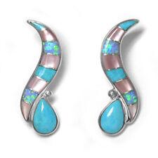 & Pink Shell Inlay Earrings Offerings Sajen Sleeping Beauty Turquoise, Opal,