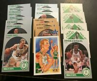 1990-1991 Hoops BOSTON CELTICS Complete Team Set 20 LARRY BIRD, MCHALE, PARISH++