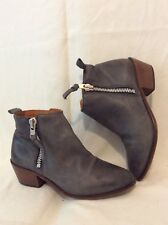Office London Grey Ankle Leather Boots Size 37