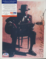 JOHN LEE HOOKER SIGNED COLOR 8X10 PHOTO IN PERSON RARE FULL SIGNATURE PSA/DNA