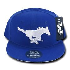 Southern Methodist University SMU Mustangs Flat Bill Snapback Baseball Hat Cap