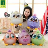 """7"""" 3D ANGRY BIRDS THE MOVIE PLUSH SOFT TOY ANGRY BIRDS COLLECTION XMAS GIFT 5PS"""