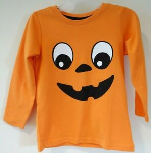 BNWT H&M Jack O'Lantern Halloween Shirt  Size 3-4