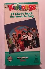 1985 Kidsongs VHS I'd Like To Teach The World To Sing View-Master With Lyrics