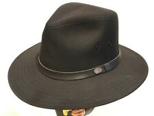 Bailey Dalton Men's Water Repellent Outback Fedora Rain Safari LARGE   ~ Hat