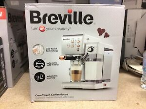 BREVILLE One-Touch VCF108 Coffee Machine -White & Rose Gold