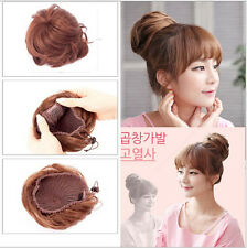 100% Human Hair Braided Hair Bun Extensions Clip-on Updo Hair Pieces for Women