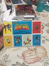 Marvels Super Heroes Secret Wars Spiderman Stamp Fun Book 32 Stamps