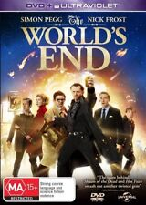 THE WORLD'S END DVD=INC ULTRAVIOLET=SIMON PEGG=REGIONS 2(UK)& 4(AUST)=NEW/SEALED