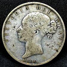 1880 Great Britain Half 1/2 Crown Silver Queen Victoria;  Nice & Rare KM #756.