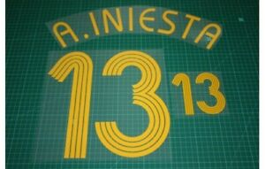 Flocage INIESTA Espagne - maillot  Patch Football Spain