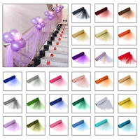 29cm x 25m Organza Sheer Roll Sash Wedding Birthday Party Chair Bow Table Runner
