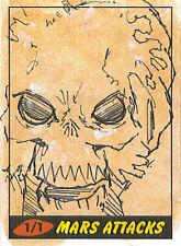Mars Attacks Heritage Sketch Card: Darin Radimaker