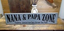 Wooden Signs, Nana & Papa Zone, Wood Sign sayings, Gift for granparents