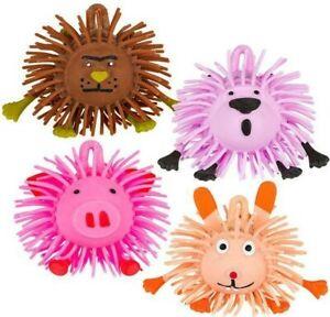 "4"" ANIMAL PUFFER BALL Bundle Set Tactile Fidget Sensory Toys"