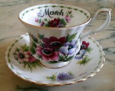 Royal Albert Flower of the month March Fiori mese Marzo Tazza The