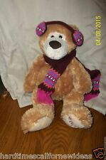 "Mary Meyer Brown Winter Bear Scarf Earmuffs Plush 16"" 2008"