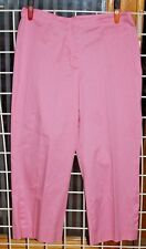 SIZE 12 J H COLLECTIONS LOW RISE STRETCH PINK CAPRI