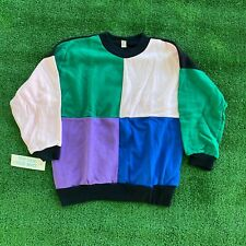 Vintage 90s Deadstock Color Block One Size Fit All Sweater/Sweatshirt