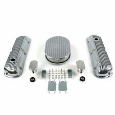 Deluxe Chrome SBF Ford Engine DressUp Kit Tall Valve Covers 289-351 Air Cleaner