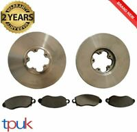 FORD TRANSIT MK6 2.4 RWD FRONT BRAKE PADS AND DISCS 2000 TO 2006 FULL SET