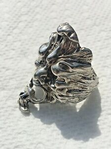 Vintage Gargoyle Monster Sterling Silver 925 Ring Size 9.5