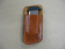 S&W Sigma 380 Leather 1 Slot OWB Belt Concealment Magazine Mag Pouch CCW TAN USA
