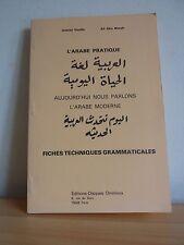 L'Arabe pratique * Fiches techniques grammaticales * Deville et Nimeh