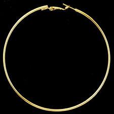 Gold Women Girls Metal Big Circle Smooth Large Ring Hoop Earrings 8cm