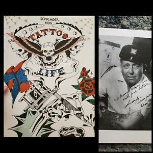 vintage sep86 tattoo life original magazine flash photo doc webb, benedetti