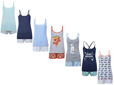 LADIES SHORT PYJAMAS EX UK STORE CAMI VEST TOP SHORTS UK 4-20 WOMENS NIGHT WEAR