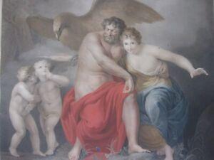 A. Lens C. Pfeiffer 1802 Klassizismus Empire Jupiter et Junon Stich graviert
