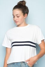 Last one! Brandy Melville white/navy striped Aleena top NWT sz S/M