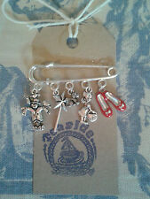 HAND MADE Wizard of Oz Ruby Slippers Dorothy Silver link Pin Brooch
