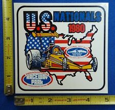 1980 US Nationals Indy Event Decal Sticker ~ Indianapolis ~ NHRA Drag Racing