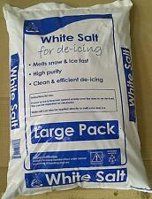 25KG WHITE rock salt - For clearing driveways and footpaths, Melts SNOW & ICE