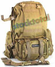 MOCHILA TACTICA ATAQUE 59x33x55 cm COLOR COYOTE  34468-BIS M